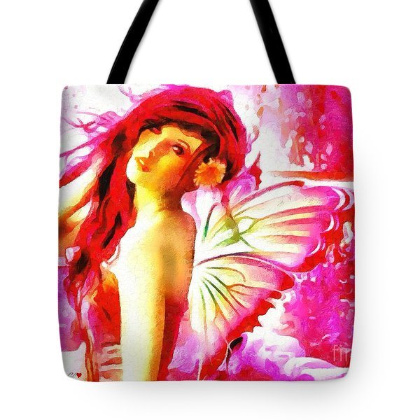 Fairy Angel In The Mix In Thick Paint Tote Bag