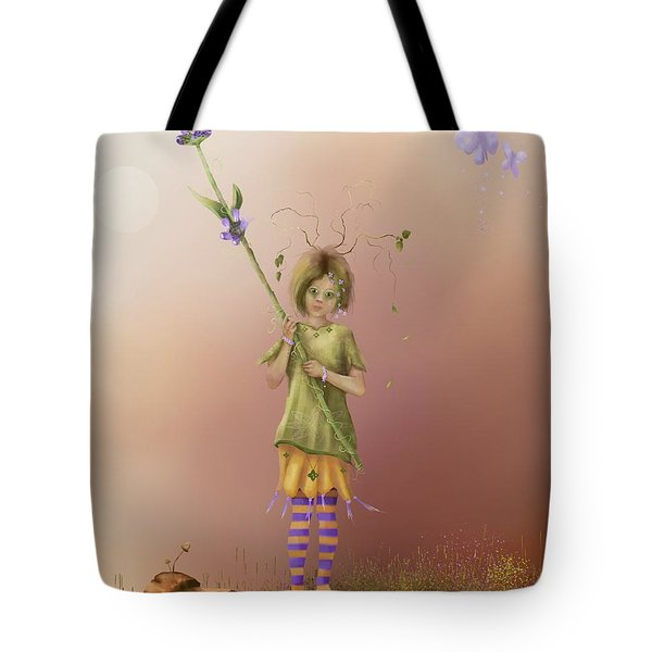 Fairy Bella Lavender Tote Bag