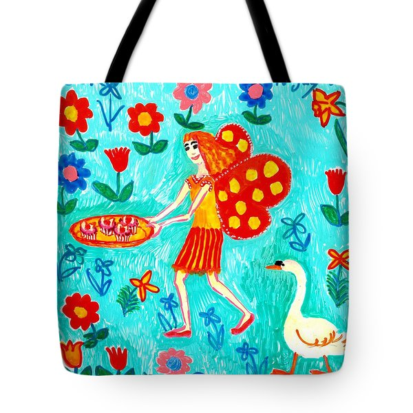Fairy Cakes Tote Bag by Sushila Burgess