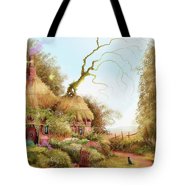 Fairy Chase Cottage Tote Bag