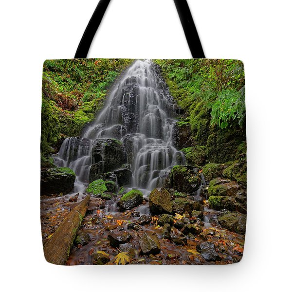 Tote Bag featuring the photograph Fairy Falls by Jonathan Davison