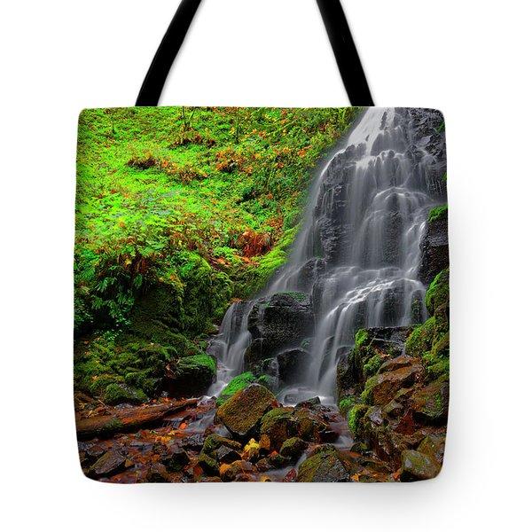 Fairy Falls Oregon Tote Bag by Jonathan Davison