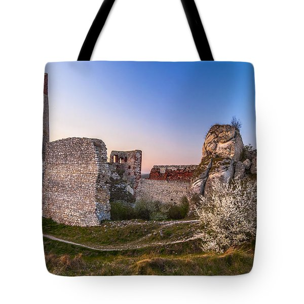 Tote Bag featuring the photograph Fairy Tale Castle Remnants by Julis Simo