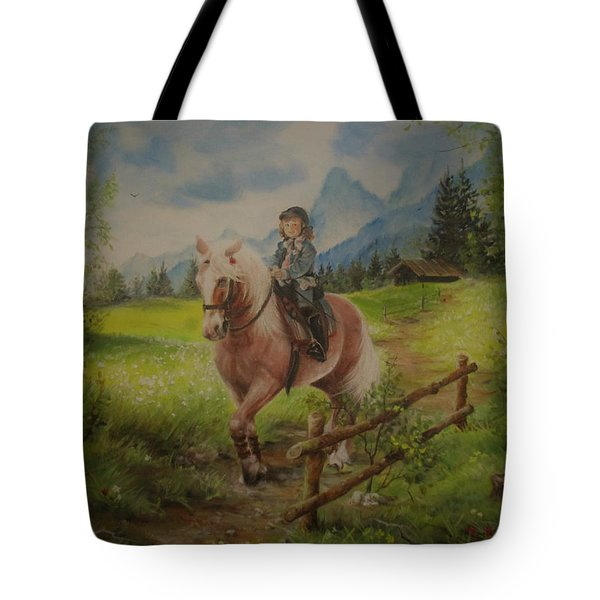 Fairy Tale In The Alps Tote Bag