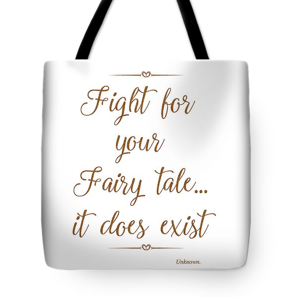 Tote Bag featuring the mixed media Fairy Tale by Unknown