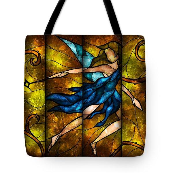 Fairy Tetraptych Tote Bag by Mandie Manzano