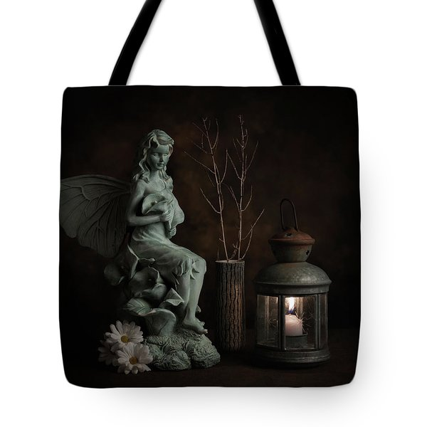 Fairy With Lilies Tote Bag