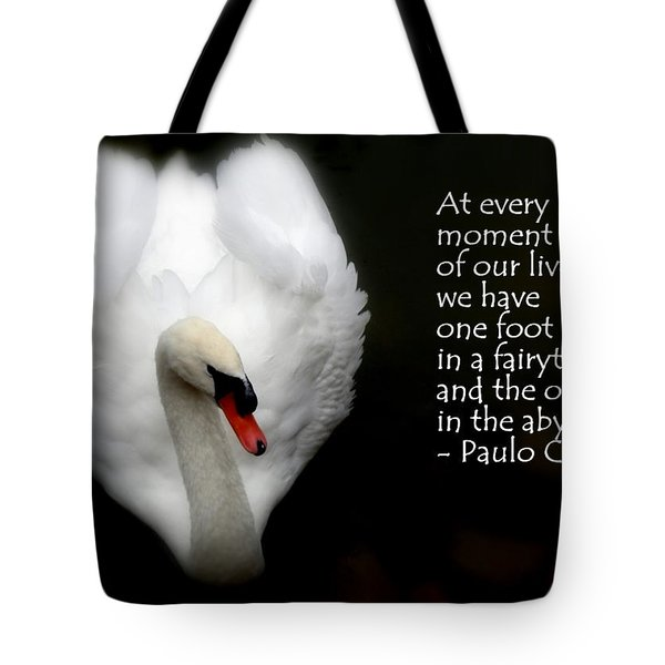 Tote Bag featuring the photograph Fairytale Swan by Lainie Wrightson