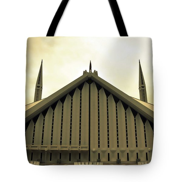Faisal Mosque Tote Bag