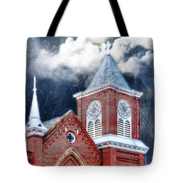 Tote Bag featuring the photograph Faith And Fury by Mary Timman