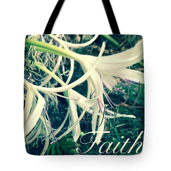 Faith- Flowers Tote Bag by Alohi Fujimoto