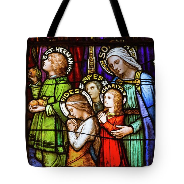 Faith, Hope, And Charity Tote Bag