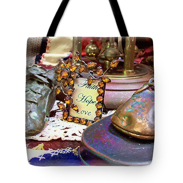 Tote Bag featuring the photograph Faith Hope Love 2 by Kate Word