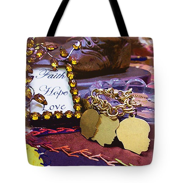 Tote Bag featuring the photograph Faith Hope Love 4 by Kate Word