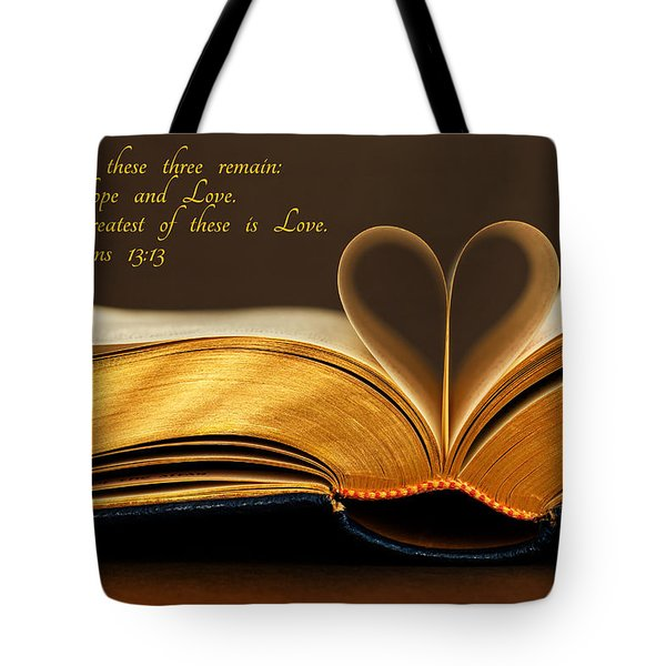 Faith. Hope. Love. Tote Bag