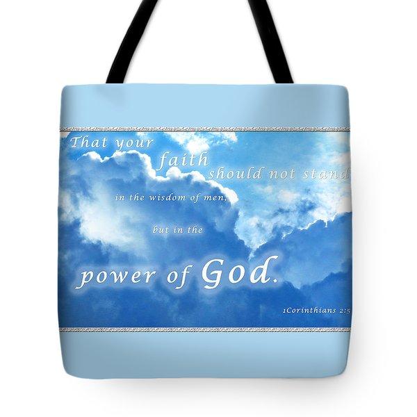 Faith In God's Power Tote Bag