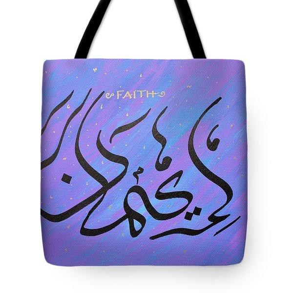 Faith Vibrant Tote Bag