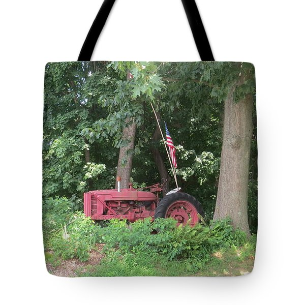 Faithful American Tractor Tote Bag