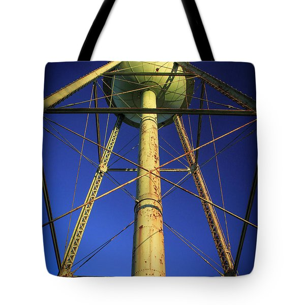 Tote Bag featuring the photograph Faithful Mary Leila Cotton Mill Water Tower Art by Reid Callaway