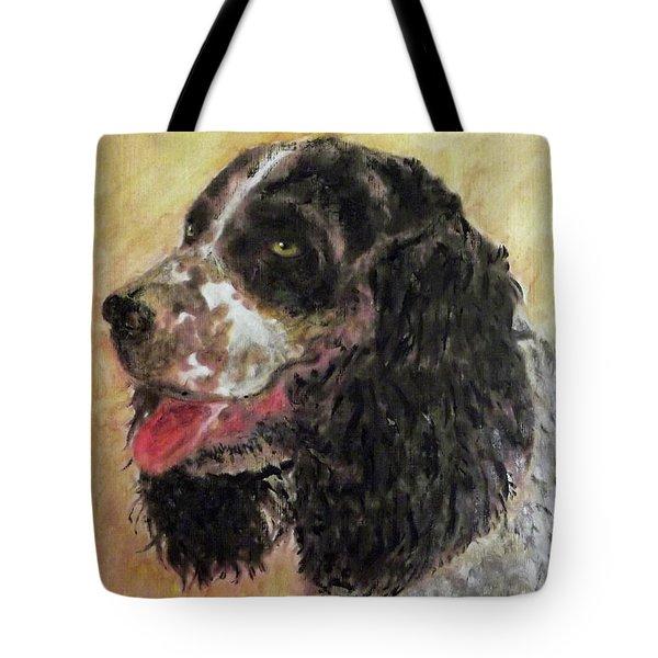 Faithful Spaniel Tote Bag