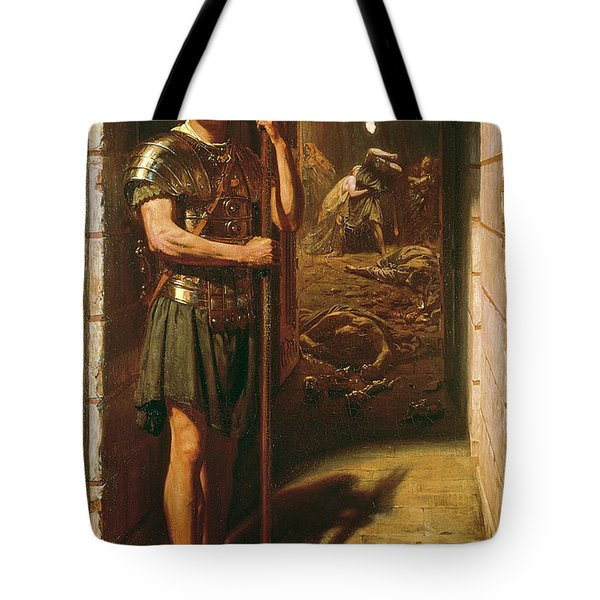 Faithful Unto Death Tote Bag by Sir Edward John Poynter