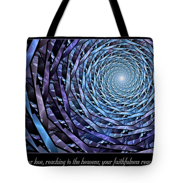 Tote Bag featuring the digital art Faithfulness by Missy Gainer