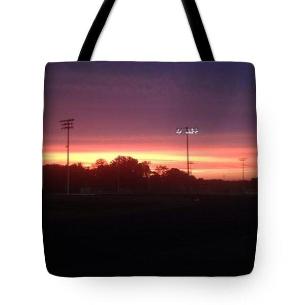 Falcon Sunrise Tote Bag
