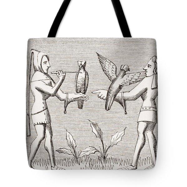 Falconers Dressing Their Birds. 19th Tote Bag