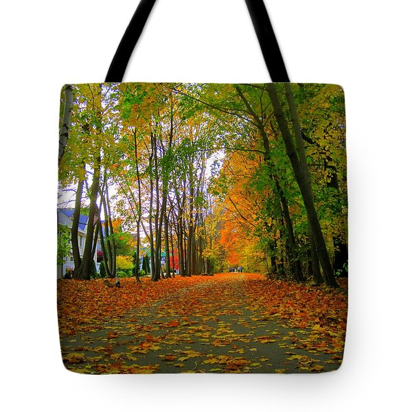 Fall Afternoon On The Rail Trail Tote Bag