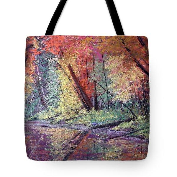 Fall Along The River Tote Bag