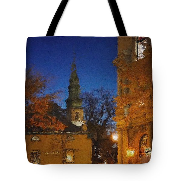 Fall And Ivy In Quebec City Tote Bag
