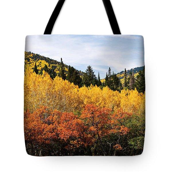 Fall Aspen Scrub Oak And Ponderosa Pine Tote Bag