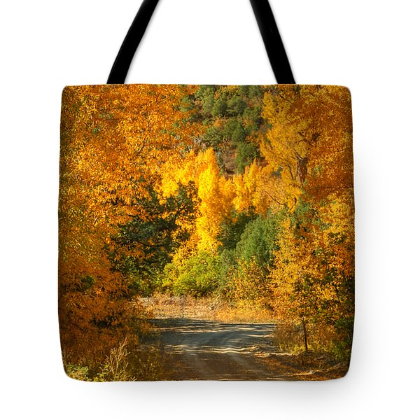 Fall Aspen Trail Tote Bag
