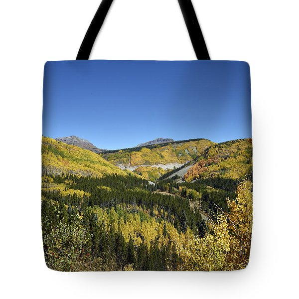 Fall Aspens In San Juan County In Colorado Tote Bag