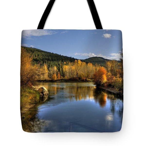 Fall At Blackbird Island Tote Bag