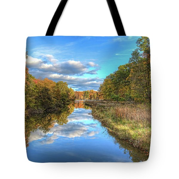 Fall At Brunswick Lake  Tote Bag by Brent Durken