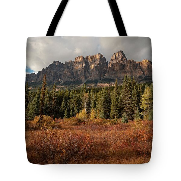 Fall At Castle Mountain Tote Bag