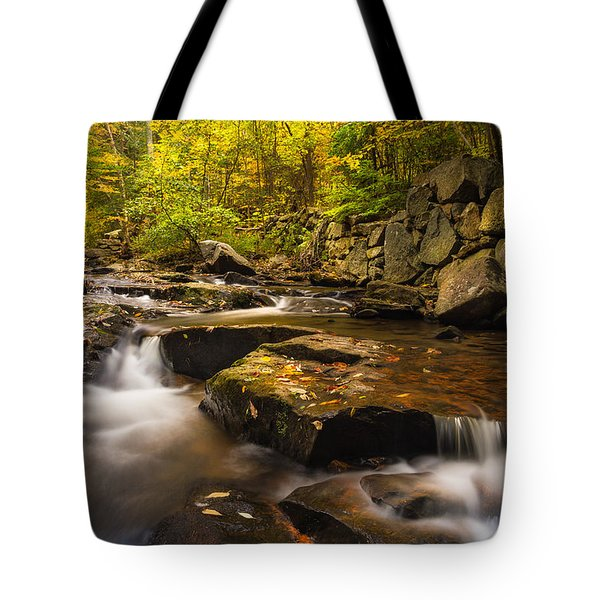 Tote Bag featuring the photograph Fall At Gunstock Brook by Robert Clifford