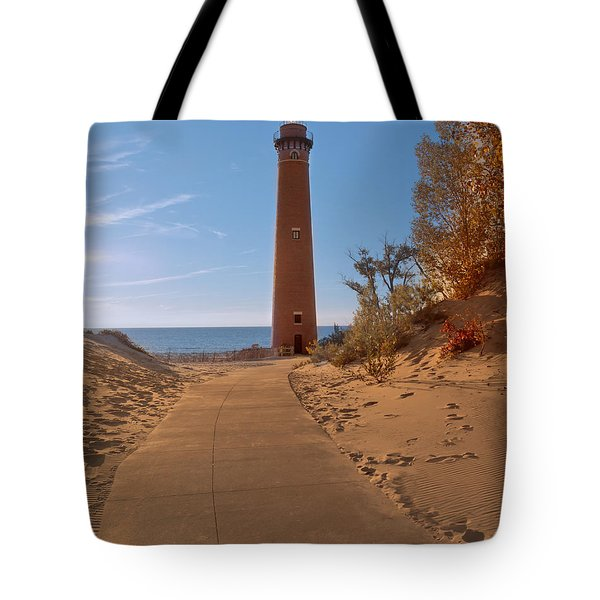 Fall At Little Point Sable Light Tote Bag