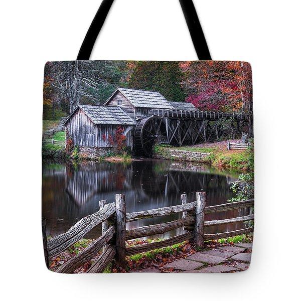 Fall At Mabry Mill Tote Bag