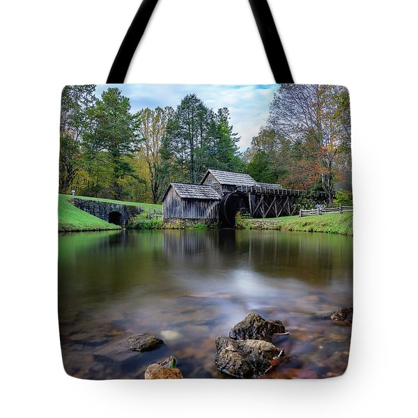 Fall At Mabry Mill Tote Bag