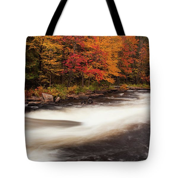 Fall At Oxtongue Rapids Tote Bag