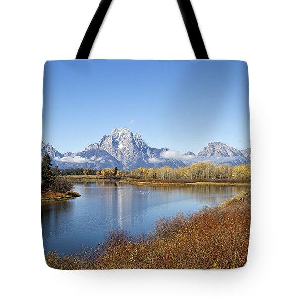 Fall At Teton -2 Tote Bag by Shirley Mitchell