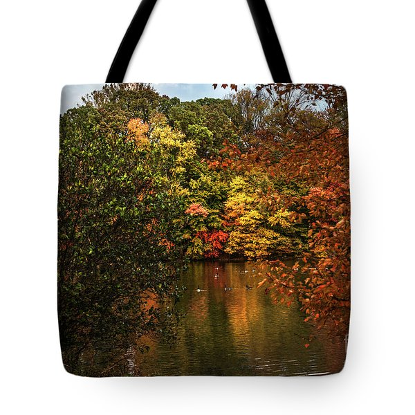 Fall At The Lake Tote Bag