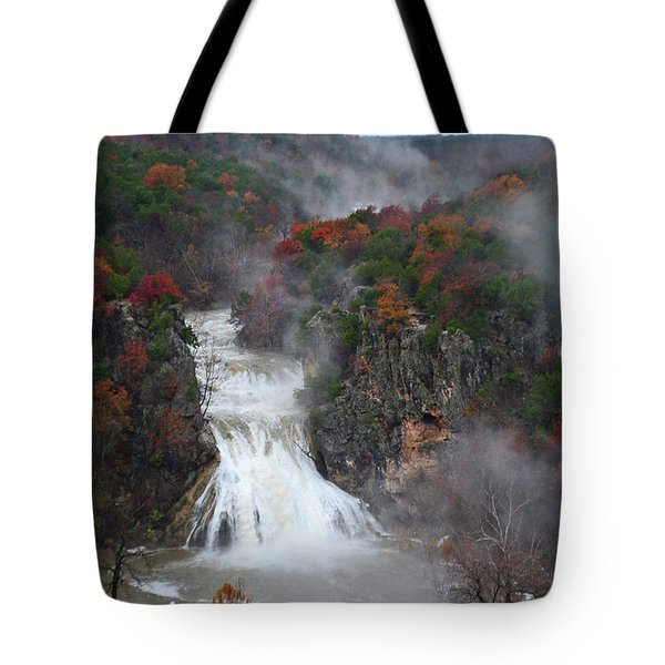 Fall At Turner Falls Tote Bag