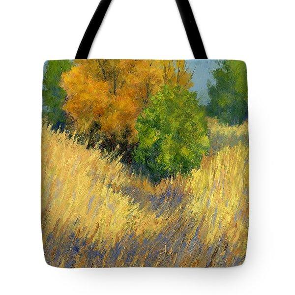 Fall Begins Tote Bag