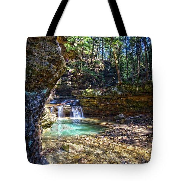 Fall Below Old Mans Cave Tote Bag