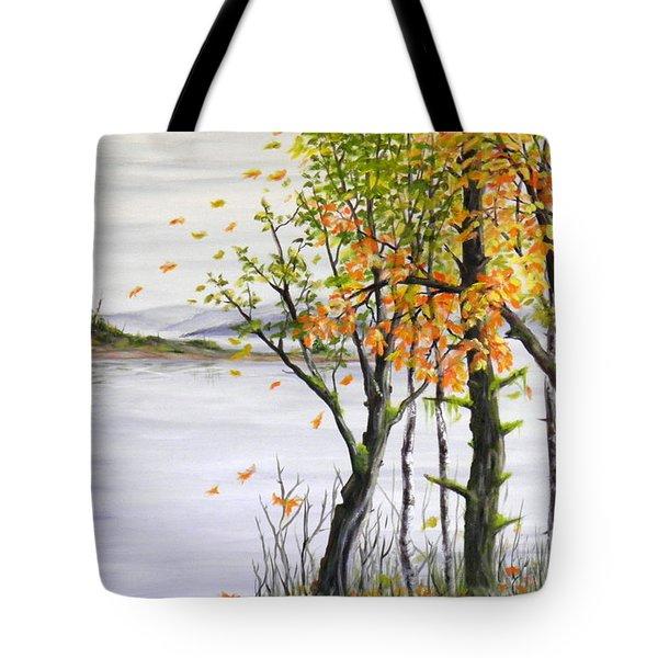 Fall Blows In Tote Bag