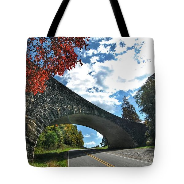 Fall Bridge Tote Bag