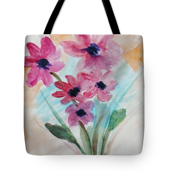 Tote Bag featuring the digital art Fall Bunch by Trilby Cole